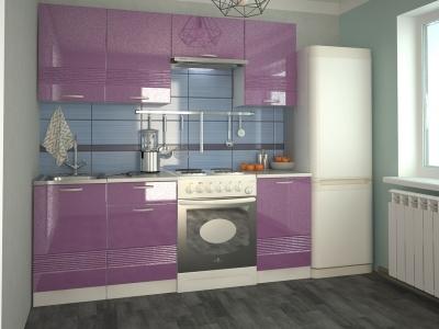 Кухонный гарнитур Волна фиолетовый металлик 2100