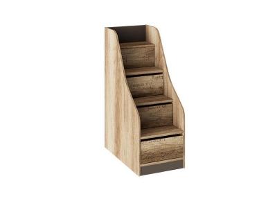Лестница с ящиками Пилигрим ТД-276.11.12 Дуб Каньон светлый, Серый