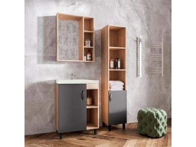 Мебель для ванной Александра цвет бетон