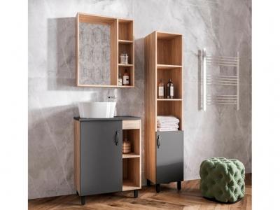 Мебель для ванной Александра со столешницей цвет бетон
