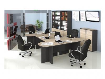 Набор мебели для офиса Успех-2 ГН-184.003 Венге Цаво, Дуб Сонома