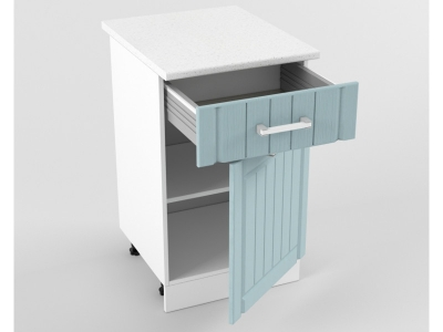 Нижний шкаф Н 500 1 ящик 1 дверь 850х500х600 Прованс Роялвуд голубой