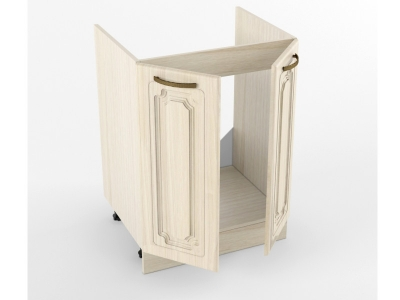 Нижний шкаф Н 600 мойка 2 двери 822х600х473 Грецкий орех