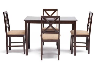 Обеденный комплект эконом Хадсон (стол + 4 стула) №4