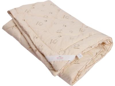 Одеяло стеганое на овечьей шерсти теплое
