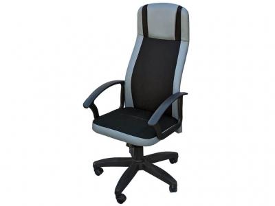 Офисное кресло Аргус в сетке чёрный-серый