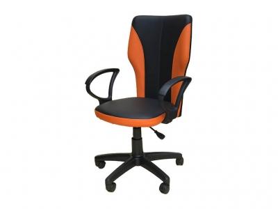 Офисное кресло Аврора чёрный-оранжевый