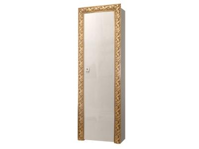 Пенал 1-но дверный левый/правый ТФП-1(П) Тиффани Премиум Слоновая кость золото