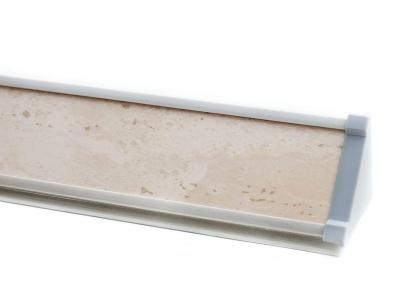 Плинтус с заглушками ПЛ 13.300 Слоновая кость 3000