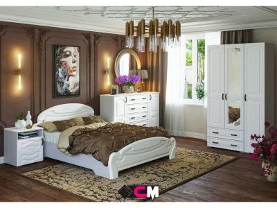Спальня Медина дуб анкор светлый-дуб белый