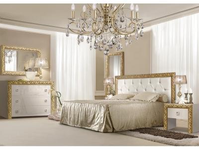 Спальня Тиффани Премиум Слоновая кость золото