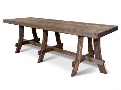 Стол для кафе №11 210х80 на 3-х опорах Ирбея