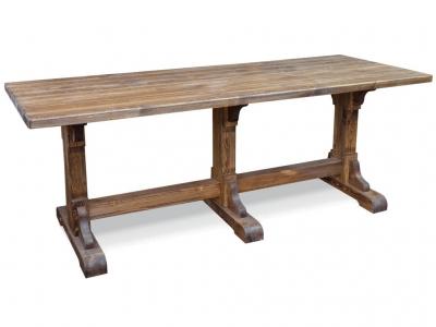 Стол для кафе №6 210х80 на 3-х опорах Ирбея