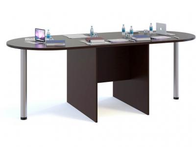Стол для переговоров Сокол СПР-04 с 2мя приставками Венге