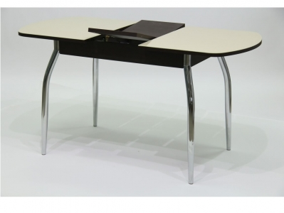 Стол Гала 2 лдсп венге + стекло песочное