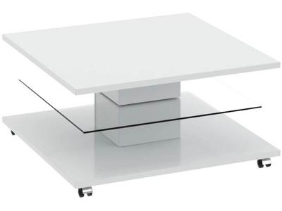 Стол журнальный Diamond тип 1 Белый глянец