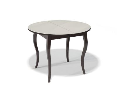 Стол Kenner 1000 С венге/стекло крем