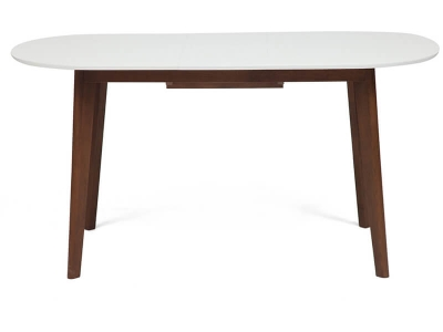 Стол обеденный раскладной Bosco Белый + Коричневый