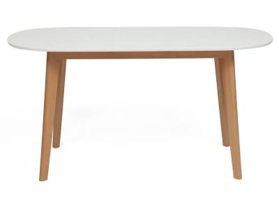 Стол обеденный раскладной Bosco Белый + Натуральный Бук