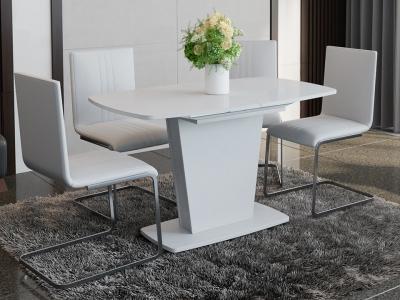 Стол раздвижной Честер Тип 2 Белый, стекло