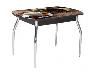 Стол раздвижной со стеклом Грация Кофе-Венге