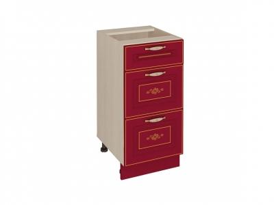 Стол с 3 ящиками - метабоксы 20.59 Виктория 400х530х820