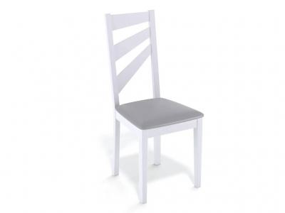 Стул Kenner 139М белый/экокожа серый
