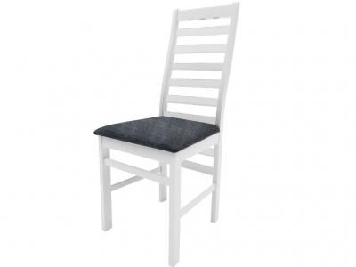 Стул Сити белый ткань Neo 4 серый