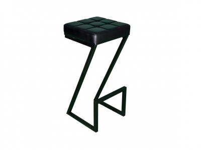 Табурет высокий Лофт-2-ZET сиденье кожзам
