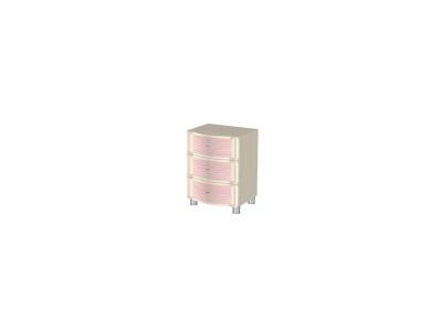 ТБ-903 Тумба 600х448х396 Дуб Беленый с розовыми вставками