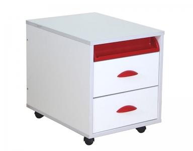 Тумба ТУВ.01-01 белый красный