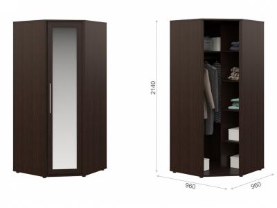 Угловой шкаф Токио с зеркалом Венге