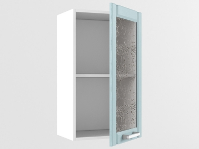 Верхний шкаф В 400 стекло 720х400х300 Прованс Роялвуд голубой