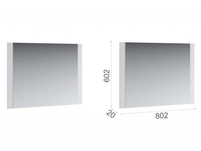 Зеркало навесное Йорк 800 Белый жемчуг